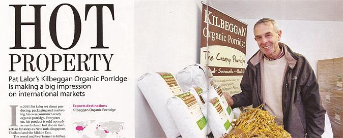 Pat Lalor's Kilbeggan Organic Porridge is making a big impression on international markets